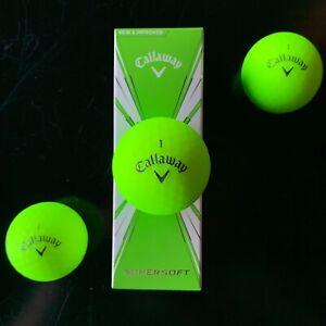 CALLAWAY-SUPERSOFT-GREEN-MATTE-FINISH-Golf-Balls-NEW-3-Ball-Sleeve
