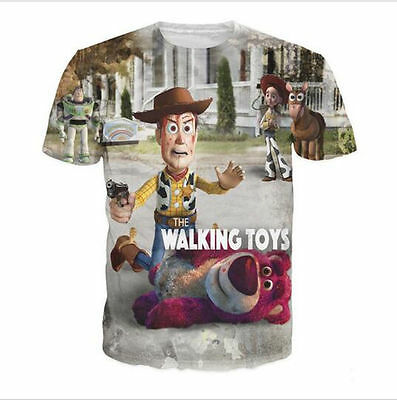 2016 New Fashion Women/Men The Walking Toys 3D Print Casual T-Shirt BQ41