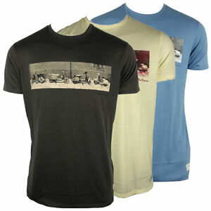 Mens Ben Sherman Retro Mod Fit Scooter Tee Sixties 60s Indie Skin T ... 18e8fb792