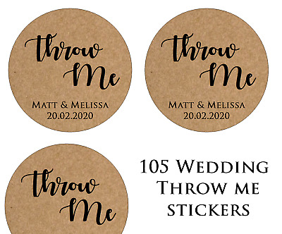 Personalised Heart Wedding Shabby Brown Kraft Effect Favour Labels Stickers 834