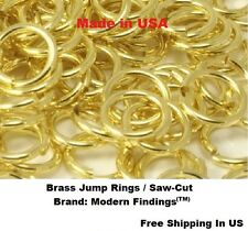 18 Ga  BRASS JUMP RINGS 10 MM O/D  (pkg of 150 - 1 Oz) Solid Brass / Saw-Cut