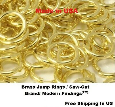 Brass Jump Ring 16Ga Wire 7 MM O//D pkg. of 160 // 1 Oz Saw-Cut Made In USA