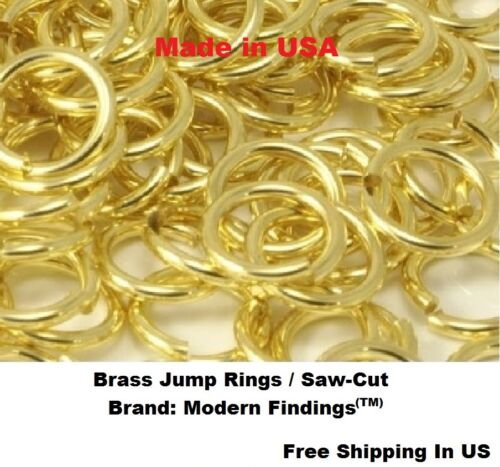 20 Ga  BRASS JUMP RINGS 8 MM O//D pkg of 300-1 Oz Solid Brass Saw-Cut