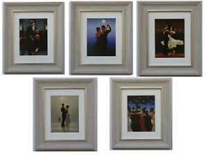 Dancers-Collection-by-Jack-Vettriano-Set-of-5-Framed-amp-Mounted-Art-Prints-Grey