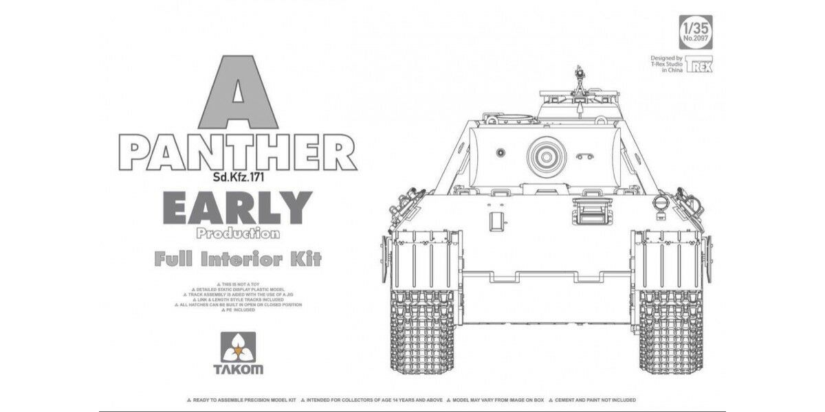 TAKOM  2097 Panther A Early Prod Full Interior in 1 35    Neueste Technologie
