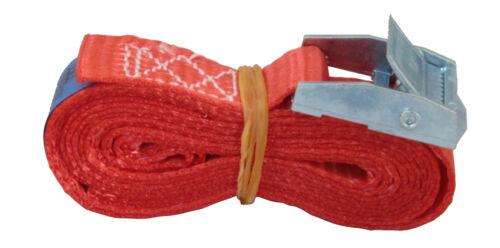 2m professionale cinture di serraggio 250 kg Dan con Serratura di Bloccaggio Cinghia di fissaggio 25mm DIN EN