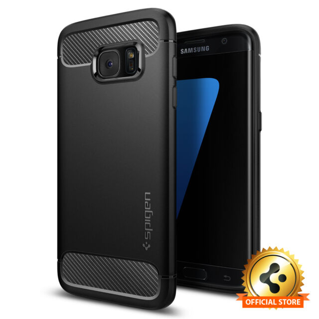 Samsung Galaxy S7 Edge Case | Spigen® [Rugged Armor] Shockproof Slim TPU Cover