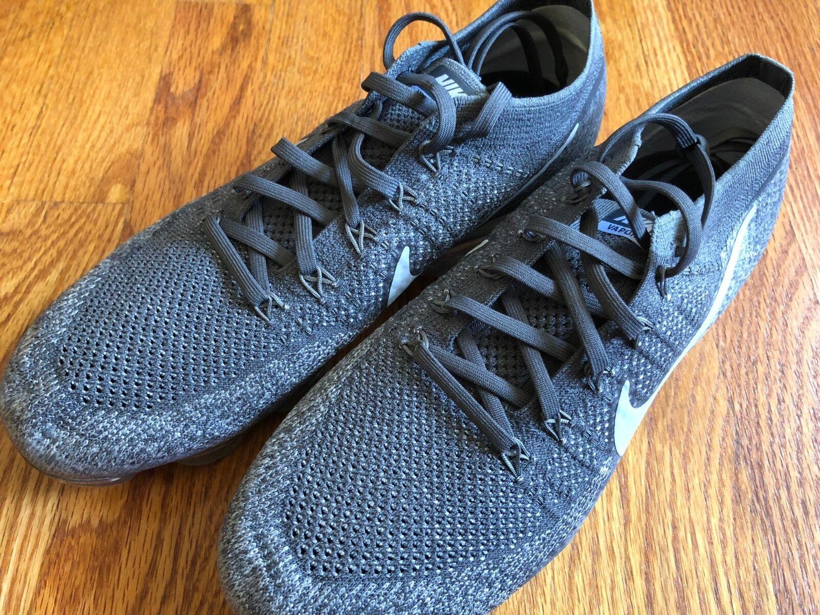 3ac525af73 Nike Vapormax Flyknit Asphalt Dark 849558-002 Size 9.5 Air Grey ...
