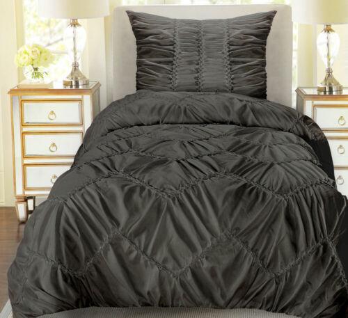 3D Bettwäsche Set 100/% Baumwolle Hotel Qualität schwer 135x200 cm 2-tlg Schwarz