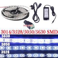 5M 3014/5050/3528/5630 SMD 300/600 LED RGB Cool Warm White Flexible Strip Light