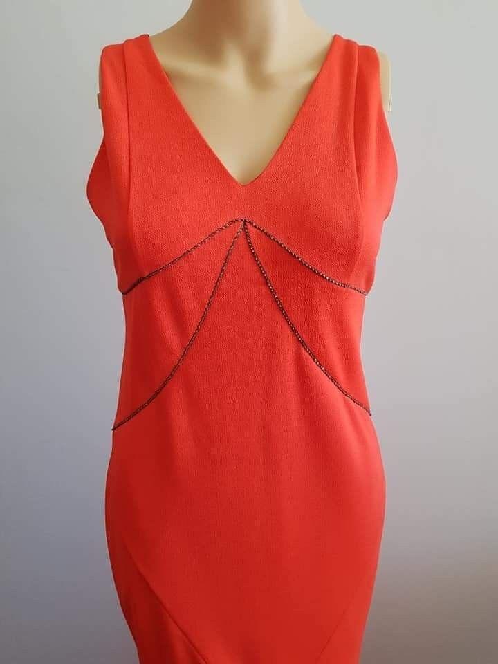BNWT FRESH SOUL Größe10 RRP damen Long Coral Fishtail Party Coctail Dress