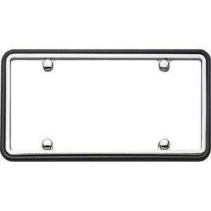 Chrome//Black Cruiser Accessories 11135 RAM License Plate Frame