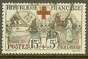 FRANCE-TIMBRE-STAMP-N-156-034-AU-PROFIT-DE-LA-CROIX-ROUGE-15-C-5-C-034-OBLITERE-TB