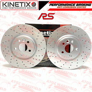 FOR-FORD-FOCUS-MK2-RS-09-11-FRONT-DRILLED-PERFORMANCE-BRAKE-DISCS-PAIR-336mm