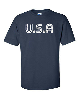 USA Retro Look United States Anerica Soccer Sports Team Men's Tee Shirt  936