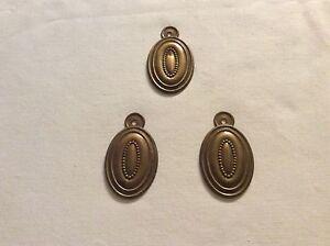 Antique Escutcheons Hepplewhite Period 3 Drawer/brass /1800-1899 Antiques Chests & Trunks