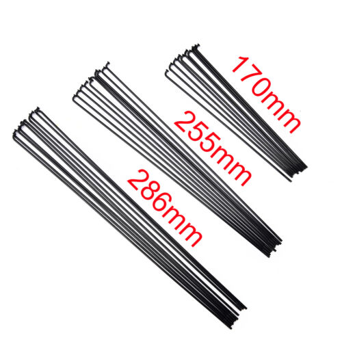 10PCS 14G Bike Bicycle Spokes Nipples 170~286mm Stainless Steel Spoke Sliver LY