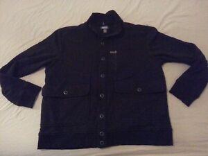 Mens-Kenneth-Cole-Reaction-Sweater-Jacket-2XL-XXL-Black-Cotton