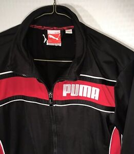 1df0f2576a9d Boys PUMA Jacket Sport Lifestyle Youth Size XL Red   Black Excellent ...