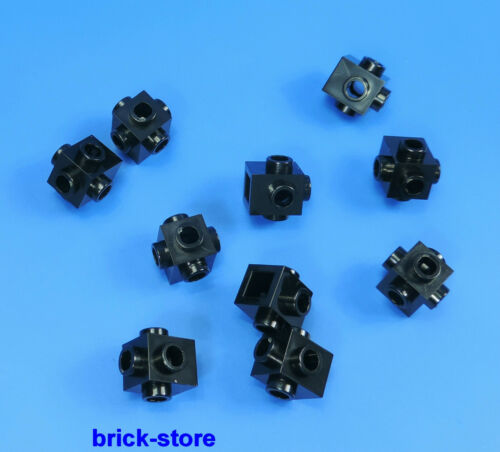 motivo blocco predefinito Nero//10 pezzi LEGO ® 1x1 scanalata tutte le pagine
