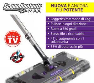 Scopa Ruotante Max.Dettagli Su Scopa Ruotante Max Elettrica Ricaricabile Con Spazzole Rimovibili Superleggera