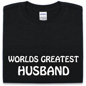 Worlds-Greatest-Marito-T-SHIRT-S-XXL-Uomo-Divertente-Regalo-per-Lui-Anniversary