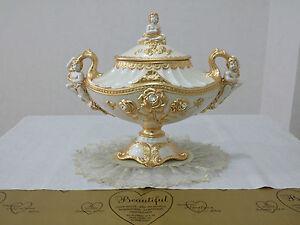 Oggetti Via Veneto.Details About Jatta Via Veneto Ceramic Pearl Flowers And Puttini Objects House Cookie Jar Gold Show Original Title