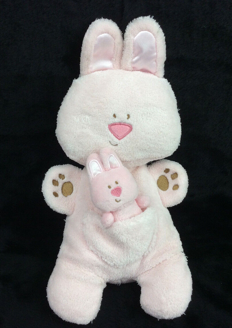 BABY GUND MOMma baby BEBBA BUNNY RABBIT pink RATTLE PLUSH TOY 13  4036988