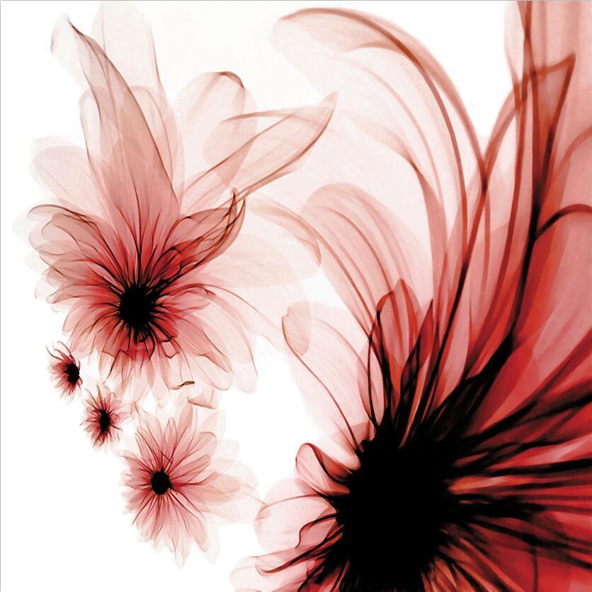 3D Transparent Flowers 492 Paper Wall Print Wall Decal Wall Deco Indoor Murals