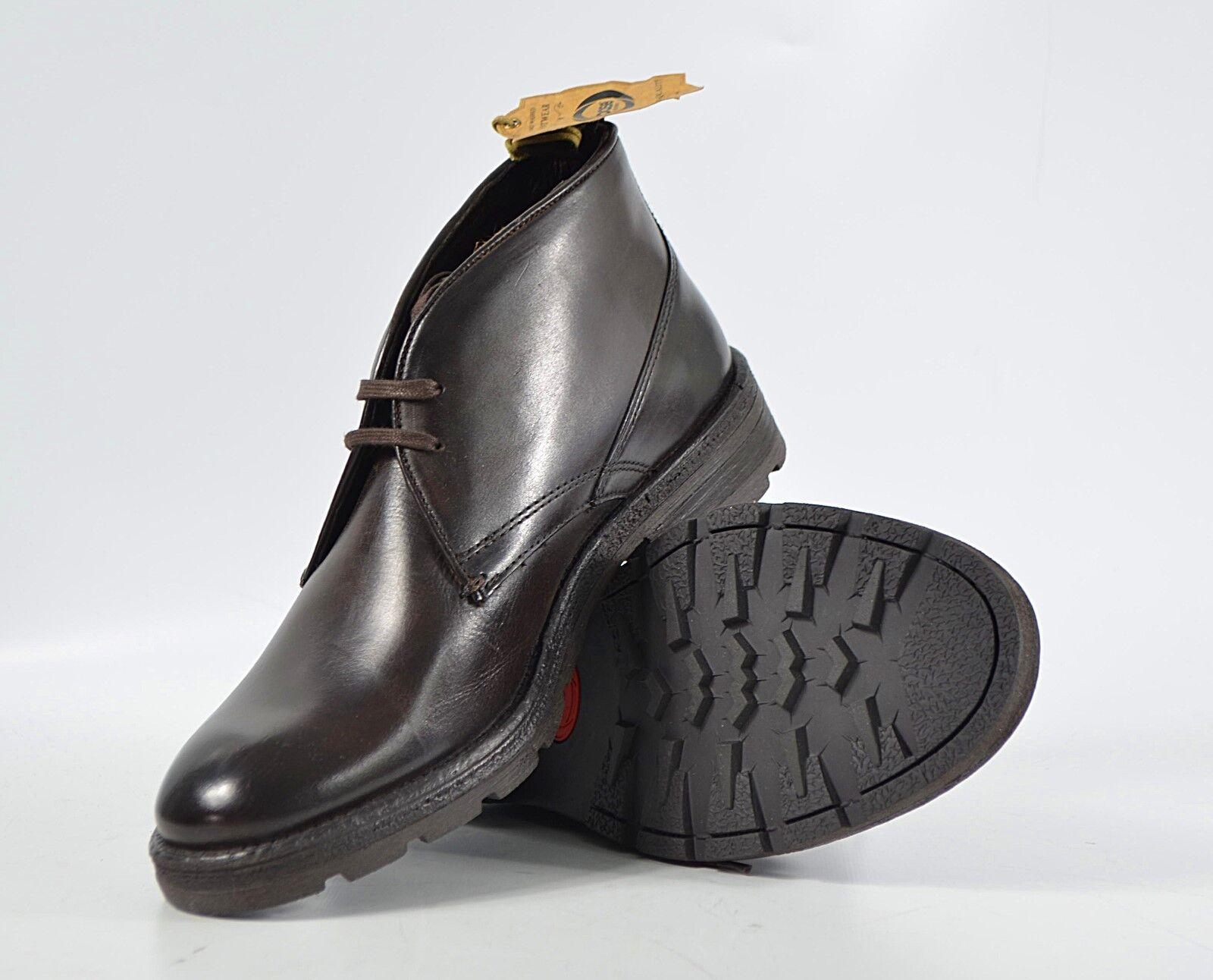 BASE LONDON Halbschuhe Archer Gr. 40 Leder, Schnürer, Herren Schuhe 5/18 M2 R3