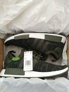 0e01bef12d56f Adidas NMD R1 PK Primeknit Camouflage Night Cargo Green Mens CQ2445 ...