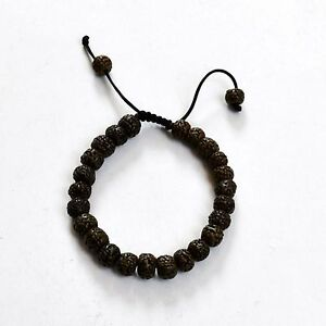 Black-Bodhi-Seed-Adjustable-Beaded-Bracelet-Tibetan-Nepalese-Tibet-Nepal-BRS79