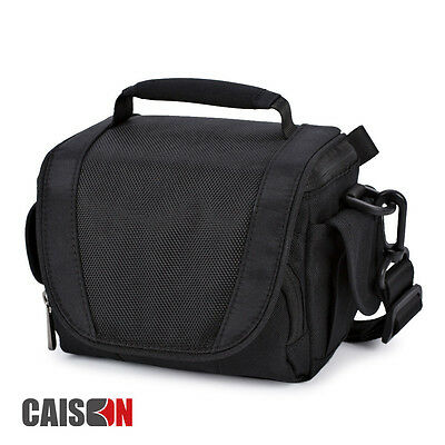 Black Digital Camcorder Camera Shoulder Messenger Carry Bag Case For SONY Alpha