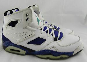 288c9909ed3390 Nike Air Jordan Grape Flight Club 91 Basketball Shoes White 555475 ...