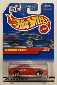 1999-HotWheels-FERRARI-456-456M-Rosso-Rosso-molto-RARO-Nuovo-di-zecca-MOC