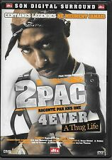 DVD ZONE 2--DOCUMENTAIRE--TUPAC (2PAC) SHAKUR RACONTE PAR KRS ONE--A THUG LIFE