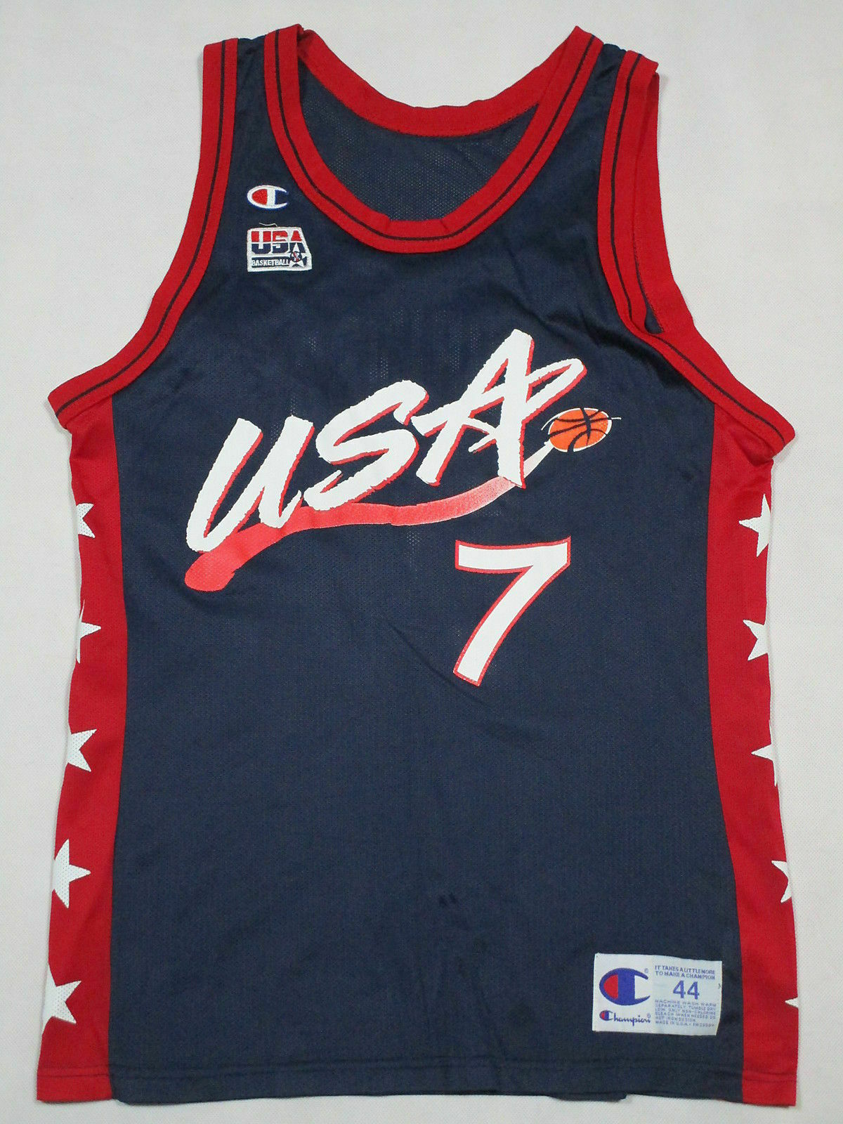Champion Camiseta Jersey Olympia USA Basketball Trikot L 44