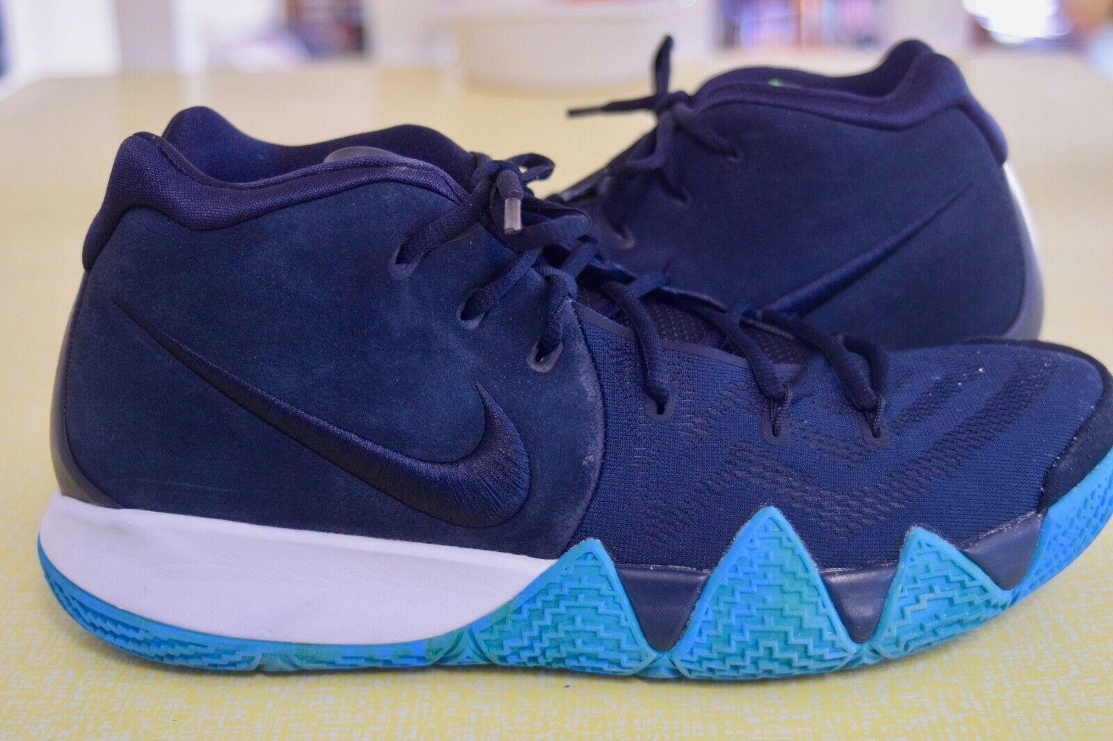 SIZE 13 USED Nike Kyrie 4 IV  shoes Obsidian bluee 943806-401