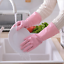 Dishwashing Scrubber Dish Washing Sponge Rubber Scrub Gloves Kitchen Cleaning