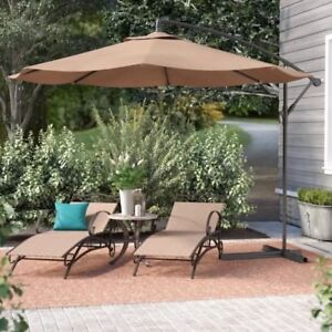 10 Ft Hanging Umbrella Patio Sun Shade Offset Outdoor Uv Resistant