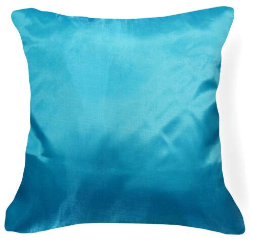 Jb206a 2 Pcs xTeal Blue Poly Taffeta Plain Cushion Cover//Pillow Case Custom Size
