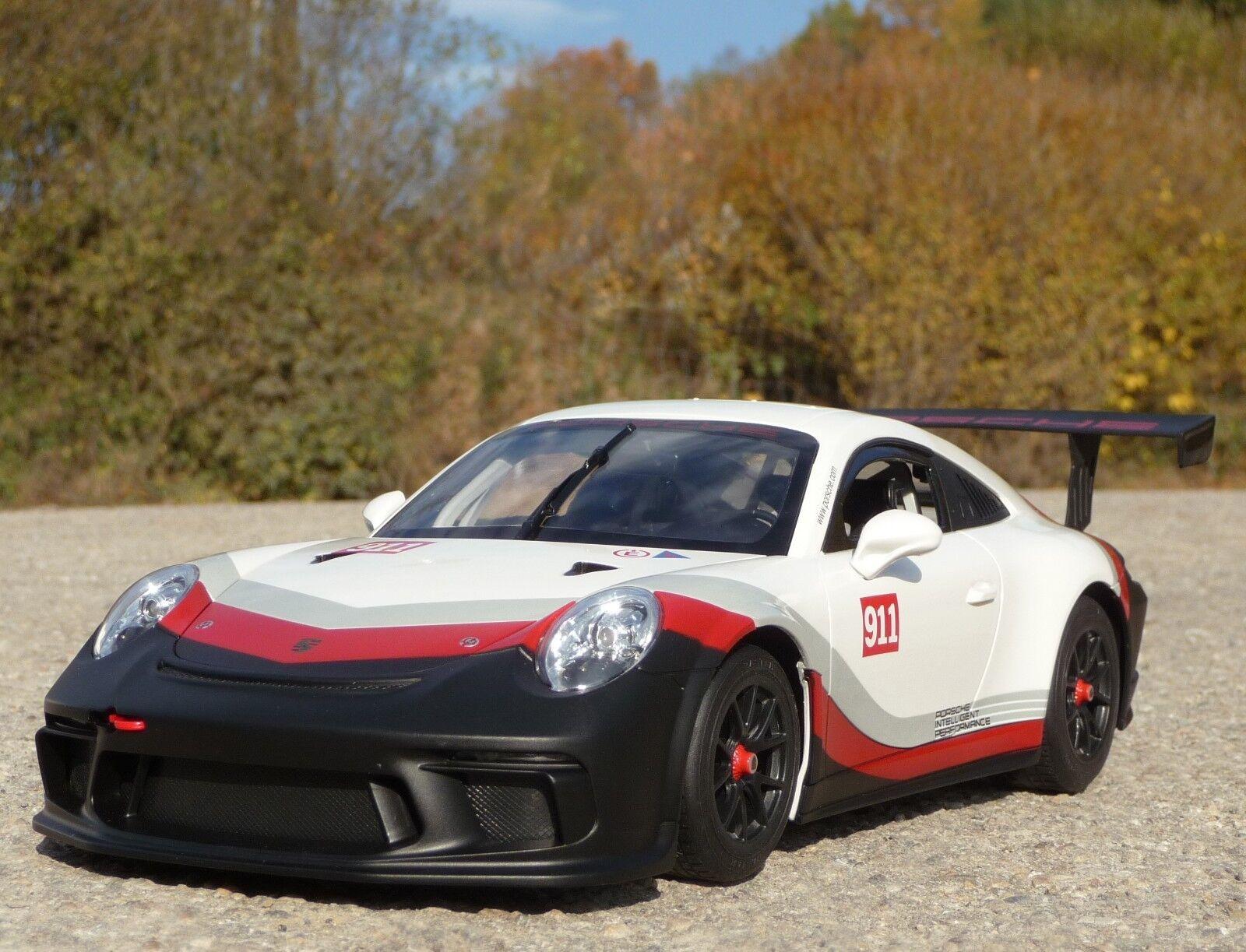 RC Porsche 911 - 991 gt3 RACING CON LUCE lunghezza 32cm da postazione remota 27mhz 405153