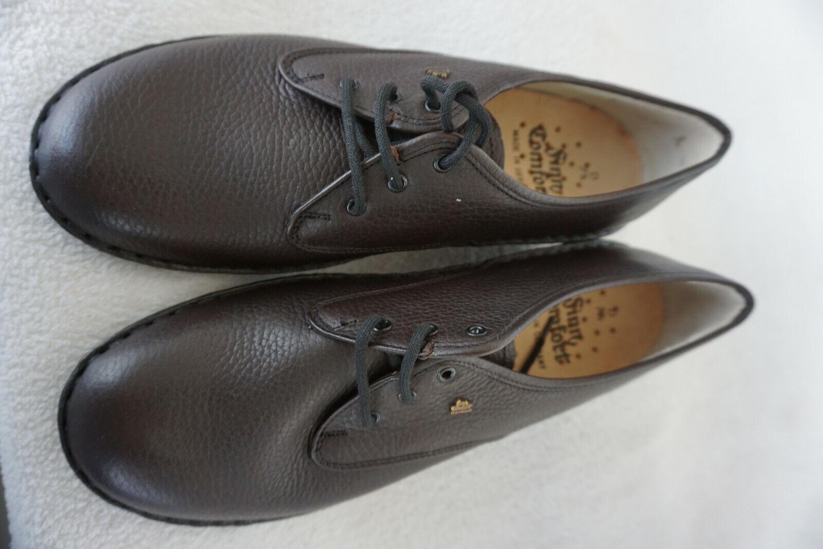 FINN COMFORT Atlanta Damen Schnürschuhe mit Einlage Gr.7,5  41 Braun Leder NEU