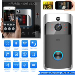 WiFi Wireless Smart Phone Door Bell Video Doorbell Talk Security HD Camera UK