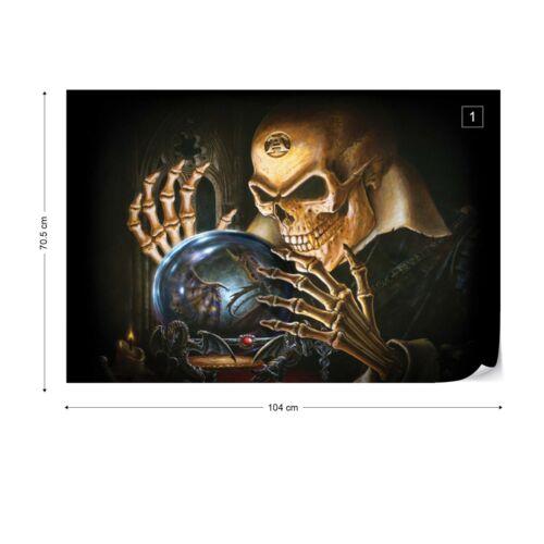 Papier Peint Photo papier peint facile installer Polaire Alchemy Gothic Boule de Cristal Crâne