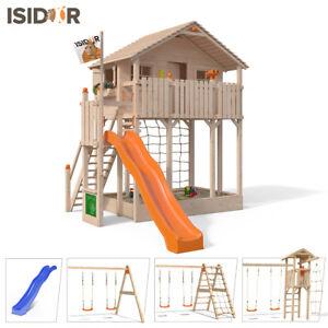 Turbo ISIDOR Bobby Big Baumhaus Spielturm Sandkasten XXL- Rutsche auf 2 FU53
