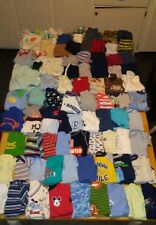 Huge 96pc. lot of baby boy clothes sizes newborn  to 0-3months