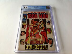 IRON-MAN-18-CGC-8-5-MADAME-MASQUE-WASP-AVENGERS-MARVEL-COMICS