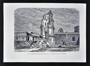 1880-Antique-Print-Manila-Cathedral-Destroyed-by-Earthquake-Philippines-Asia