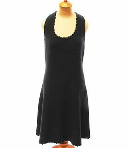 552d0a38ba35 Vintage 1960s 1970s St. John Knits Womens Dress Black Sleeveless ...
